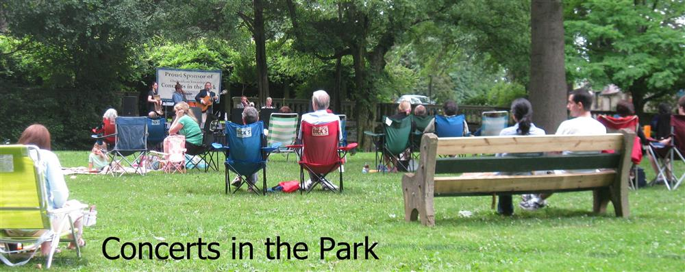Audience enjoys Concert in the Park at Curtis Arboretum